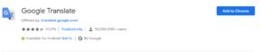 Download Google Translate chrome extension